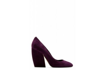 Pierre Hardy Plum Suede Carryovers Pumps
