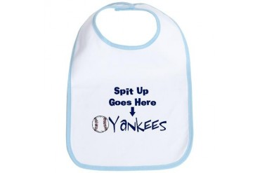 Yankees Spit up Goes Here Baby Sports Bib by CafePress