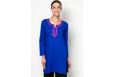 HiDY Embroidered Plain Kurti