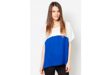 TLA Round Neck Bat Sleeve Loose Chiffon Top