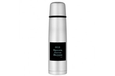 OCD: Obsessive Coffee Disorder Large Thermos Bottl Coffee Large Thermosreg; Bottle by CafePress