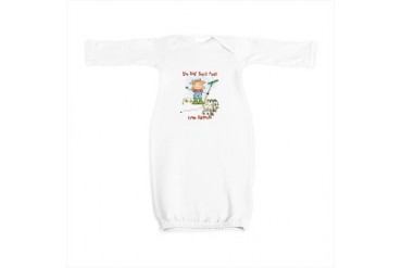 Funny Goat Berries Pets Baby Gown by CafePress