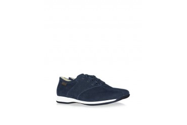 Navy Blue Suede Lace Up Shoes