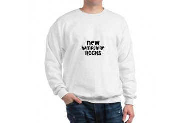 NEW HAMPSHIRE ROCKS United states Sweatshirt by CafePress