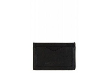 Alexander Mcqueen Black Leather De Manta Card Holder
