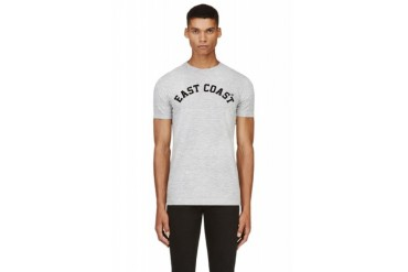 Dsquared2 Grey Distressed East Coast T shirt