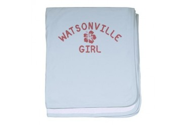Watsonville Pink Girl California baby blanket by CafePress