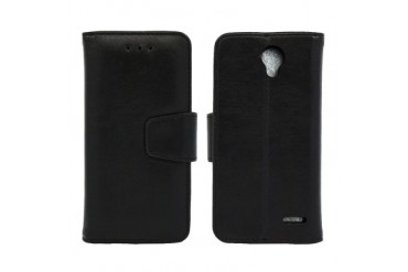 ZTE Prestige N9132 Edge Folio Leather Wallet Pouch Case Cover Black