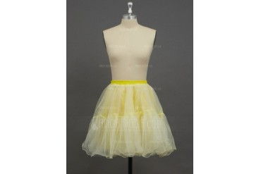 Women/Girls Organza/Polyester Short-length 2 Tiers Petticoats (037033993)