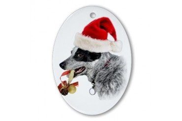 Australian Cattle Dog Xmas Oval Ornament