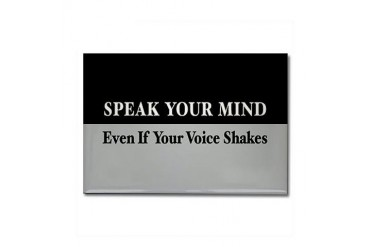 Speak Your Mind Political Rectangle Magnet by CafePress