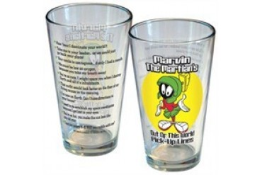 Looney Tunes Marvin the Martian Out of This World Pick Up Lines Pint Glass