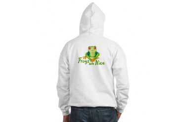 Frogs are Nice Art Hooded Sweatshirt by CafePress