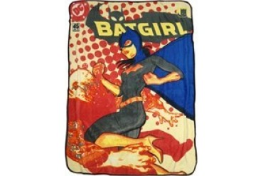 DC Comics Batgirl Comic Cover Fleece Throw Blanket