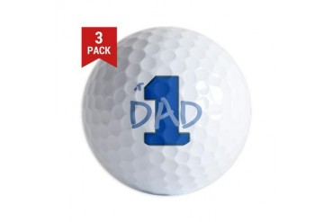 # 1 Dad blue gray Golf Balls