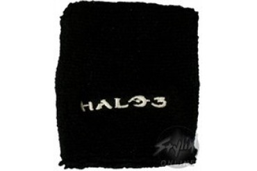 Halo 3 White Logo Black Wristbands