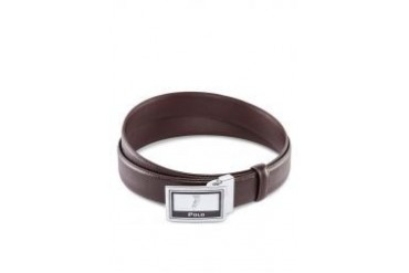 Polo Embossed Logo Leather Belt