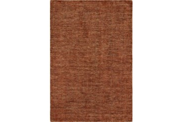 Dalyn Toro Transitional Red Solid Wool Gabbeh Plush Tonal Area Rug