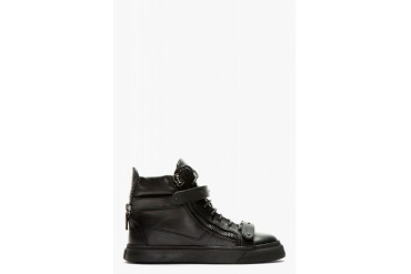 Giuseppe Zanotti Ssense Exclusive Black Leather High top Sneakers