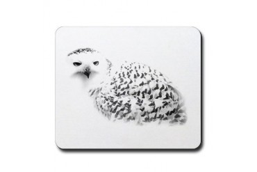 Snowy Owl Animal Mousepad by CafePress