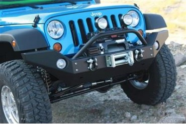 Rock Hard 4x4 Parts Full Width Front Bumper with Flat Deck Winch Mount RH5006 Front Bumpers