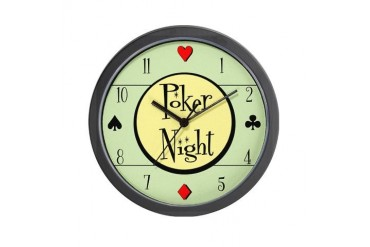 Retro Poker Vintage Wall Clock by CafePress