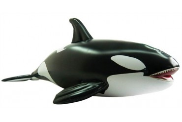 Incredible Lifelike Inflatable Orca Whale (84 Inches Long)