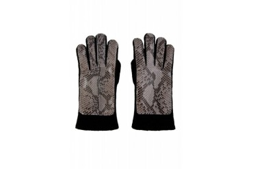 Christopher Kane Grey Python And Cashmere Gloves