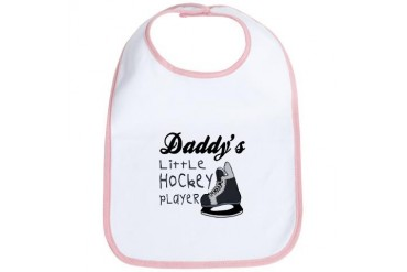 Daddy's Hockey Player Babys Sports Bib by CafePress