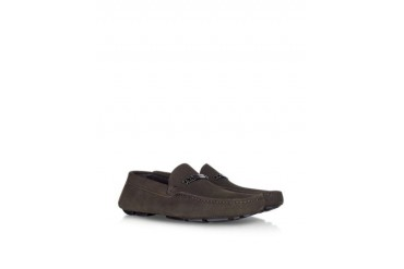 Dark Brown Suede Driver Shoe