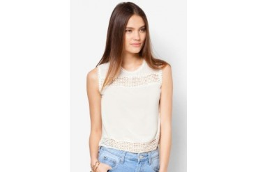 Something Borrowed Textured Sleeveless Top