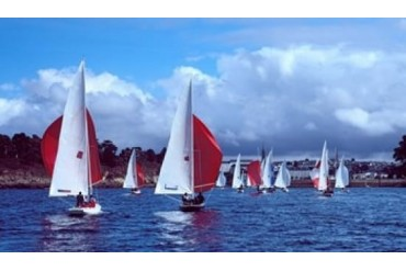 Dragon regatta in Baie De Douarnenez, Finistere, Brittany, France