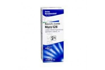 Bausch And Lomb Muro 128 5% Sterile Ophthalmic Eye Solution1 oz