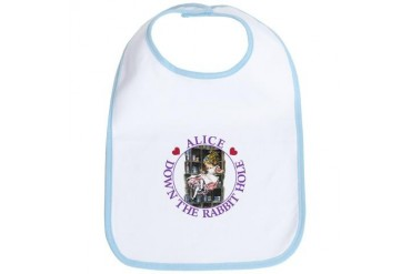 Alice - Down the Rabbit Hole Baby Bib by CafePress