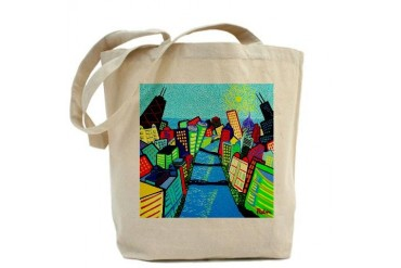 Chicago Riverview Gallery Tote Bag by CafePress