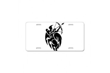 png028-sagittarius4111906.png Aluminum License Pl Horse Aluminum License Plate by CafePress