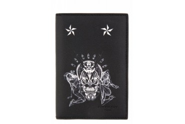 Givenchy Black Skulls And Playing Cards Card Holder