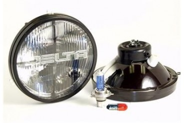 "Delta Industries Delta ""Classic"" 7"" H4 Hi/Lo Beam 60/55W Headlights w/Blinkers, Replaces H6024 01-1189-50XB Headlight Replacement"