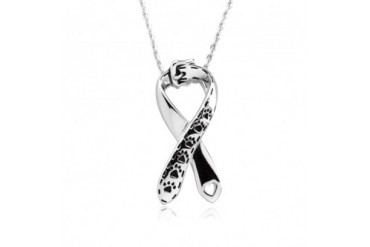 Fight Animal Cruelty Necklace In Silver