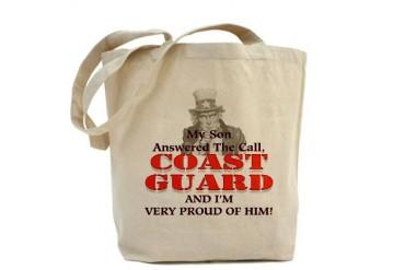My Coast Guard Son Answered Military Tote Bag by CafePress