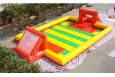 Outdoor inflatable water football games
