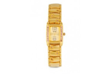 Omax JES540G Alloy Gold (Pink Stone) Watch