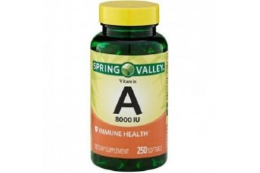 Spring Valley Vitamin A 8000 IU Dietary Supplement Softgels
