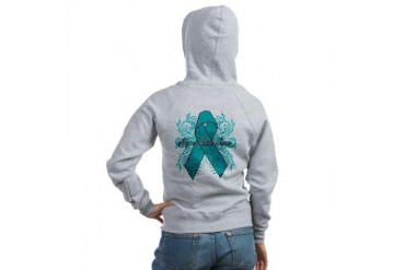 Peritoneal Cancer Flourish Cancer awareness Women's Zip Hoodie by CafePress