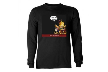 Honey, I love you Valentines day Long Sleeve Dark T-Shirt by CafePress