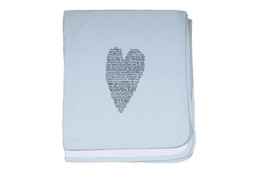 Black and white baby blanket by CafePress