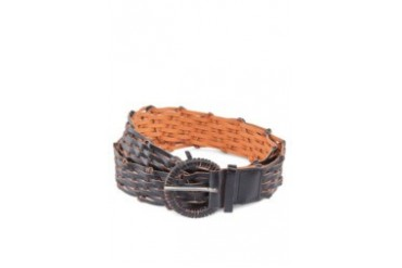 Dandelion Covered Buckle Braided Belt