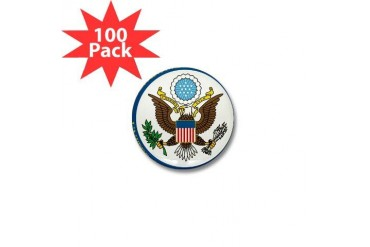 DoS seal Usa Mini Button 100 pack by CafePress