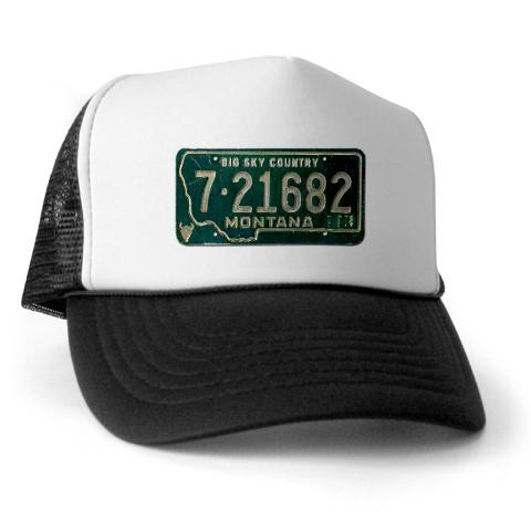 1974 Montana License Plate Western Trucker Hat by CafePress - Price  Comparison
