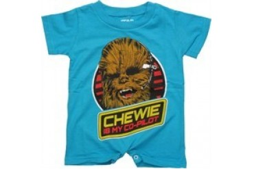 Star Wars Chewbacca Chewie is My Co-Pilot Romper Snap Suit